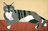 Striped Cat Applique Class