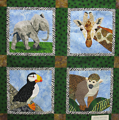 Wild Animal Applique Class